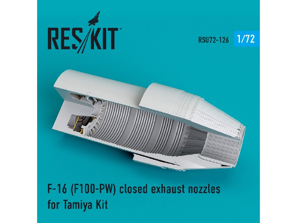 1/72 F-16 (F100-PW) closed exhaust nozzles for Tamiya Kit