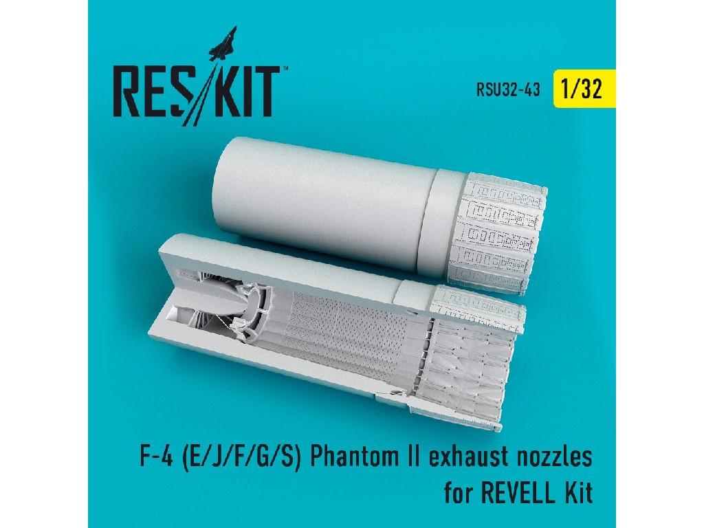 1/32 F-4 (E/J/F/G/S) Phantom II exhaust nozzles for REVELL Kit