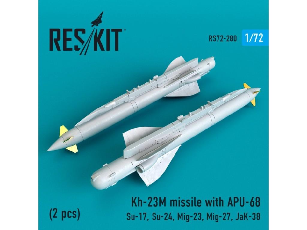 1/72 Kh-23M missile with APU-68 (2 pcs)(Su-17, Su-24, Mig-23, Mig-27, JaK-38)