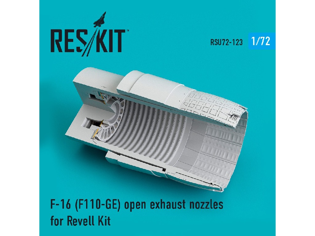 1/72 F-16 (F110-GE) open exhaust nozzles for Revell Kit