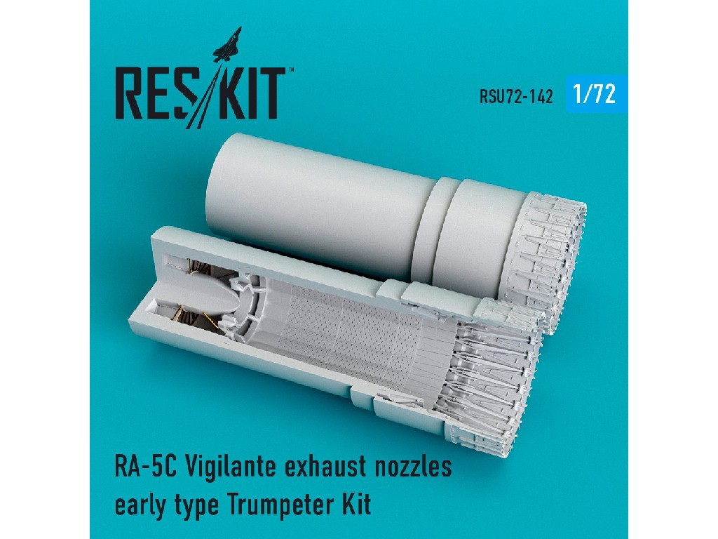 1/72 RA-5C Vigilante exhaust nozzles early type for Trumpeter Kit