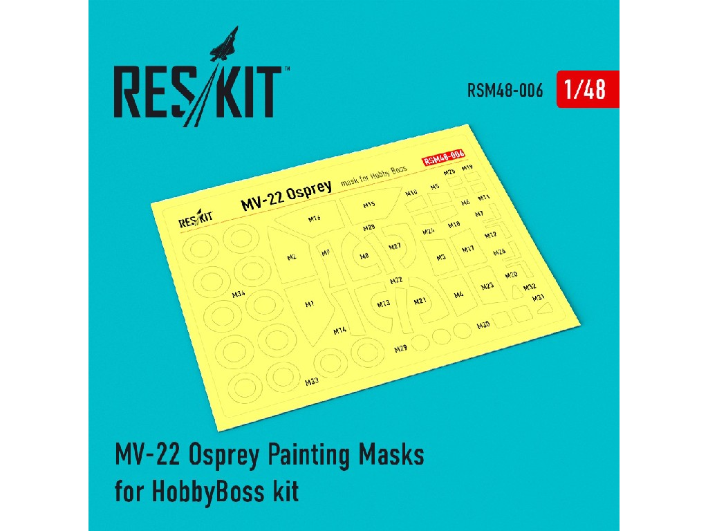 1/48 MV-22 Osprey Painting Masks for HobbyBoss kit