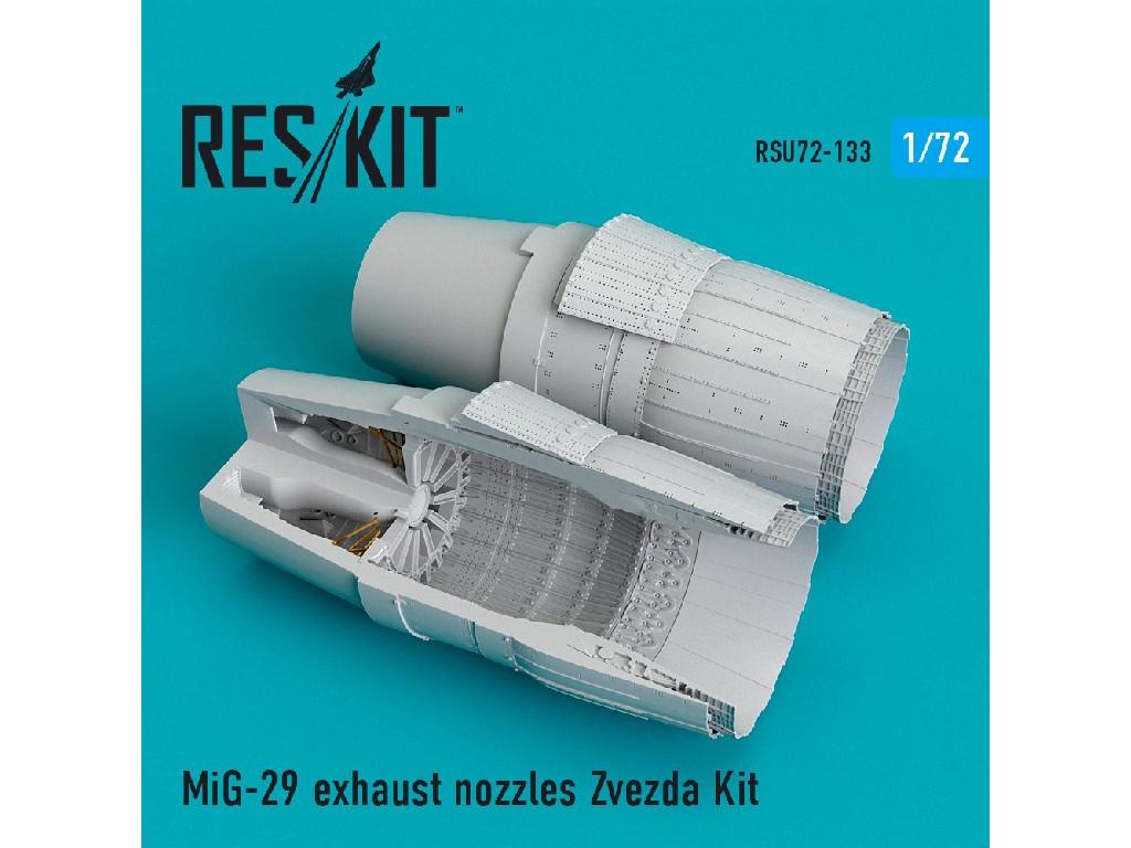 1/72 MiG-29 exhaust nozzles Zvezda Kit