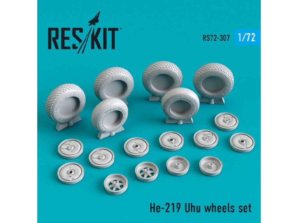 1/72 He-219 Uhu wheels set