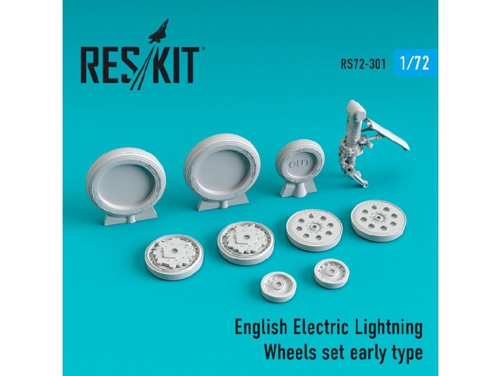 1/72 EE Lightning Wheels set early type