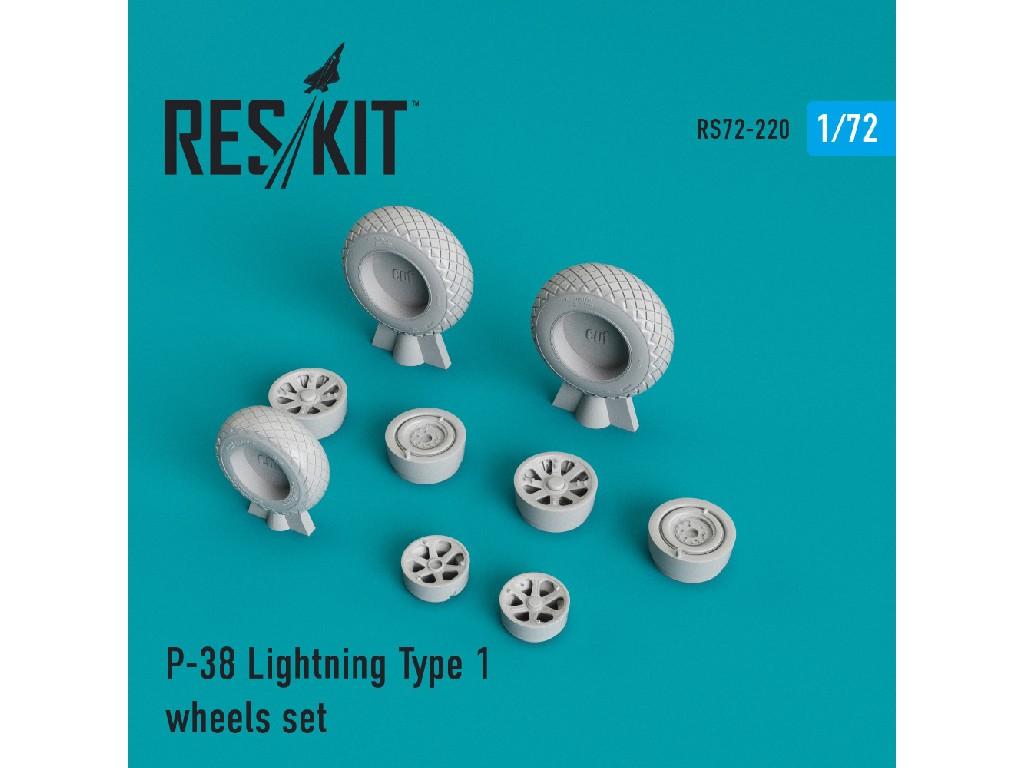 1/72 P-38 Lightning Type 1 wheels set