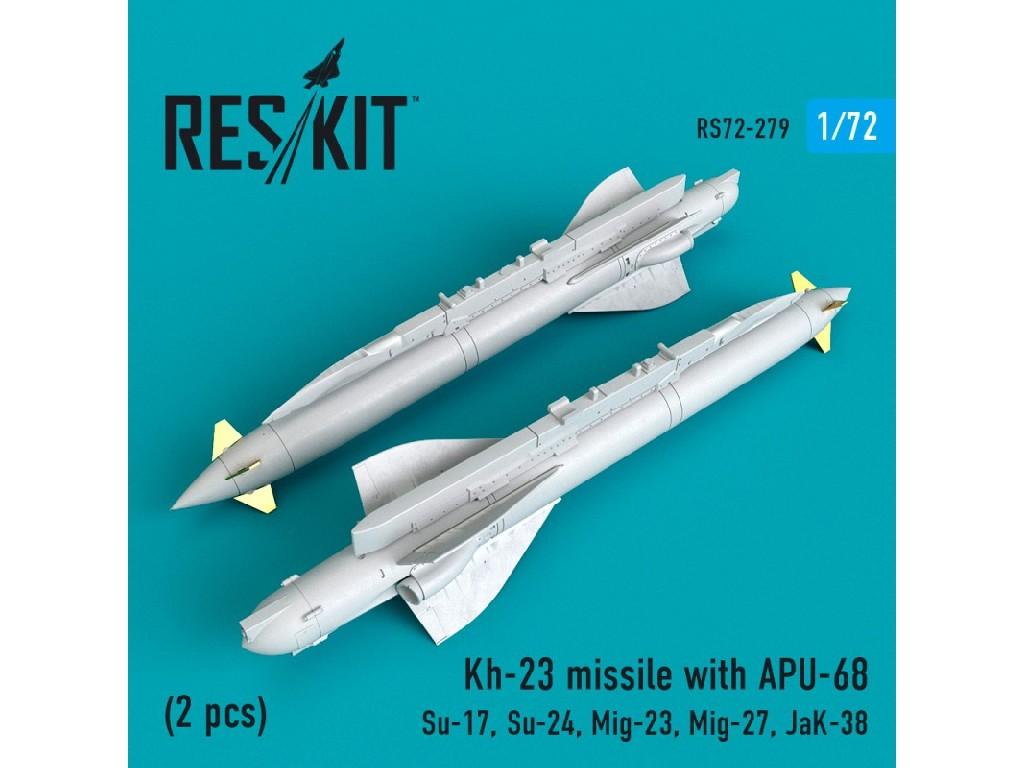 1/72 Kh-23 missile with APU-68 (2 pcs) (Su-17, Su-24, Mig-23, Mig-27, JaK-38)