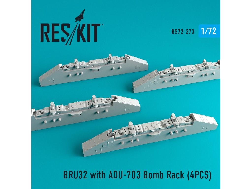 1/72 BRU32 with ADU-703 Bomb Rack (4PCS)