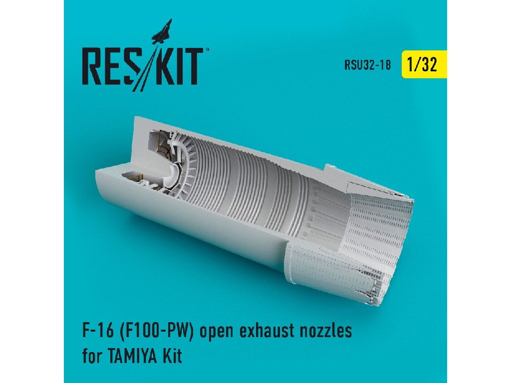 1/32 F-16 (F100-PW) open exhaust nozzles for TAMIYA Kit