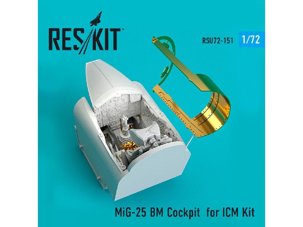1/72 MiG-25 BM Cockpit for ICM Kit