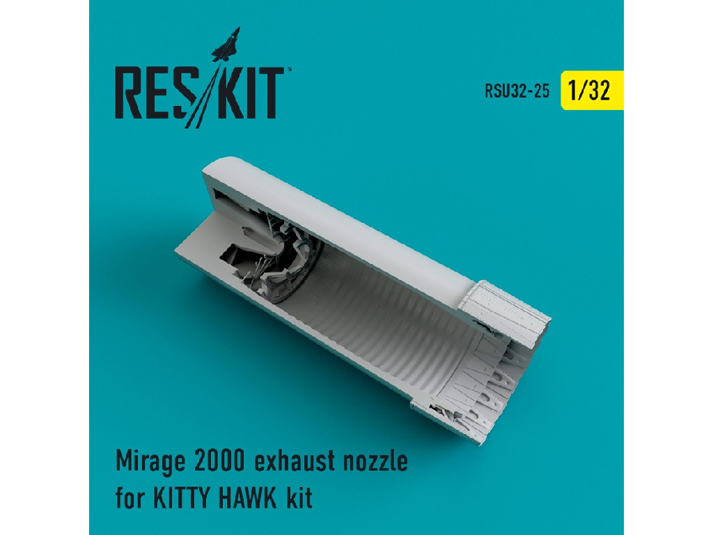1/32 Mirage 2000 exhaust nozzles for KITTY HAWK KIT