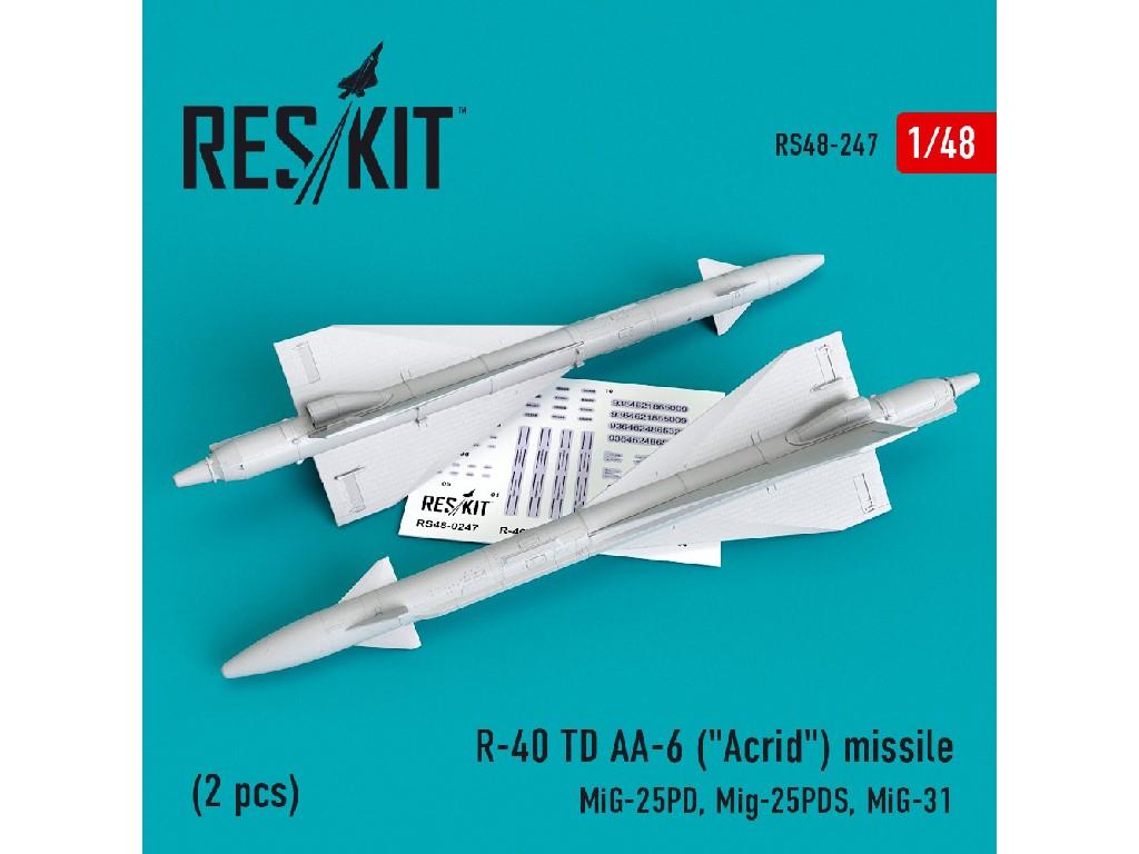 1/48 R-40 TD AA-6 (Acrid) missile (2 pcs) MiG-25PD, Mig-25PDS, MiG-31