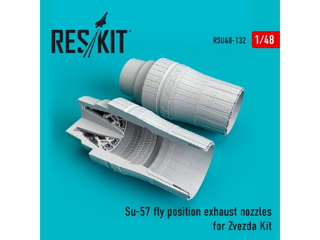 1/48 Su-57 fly position exhaust nozzles for Zvezda Kit