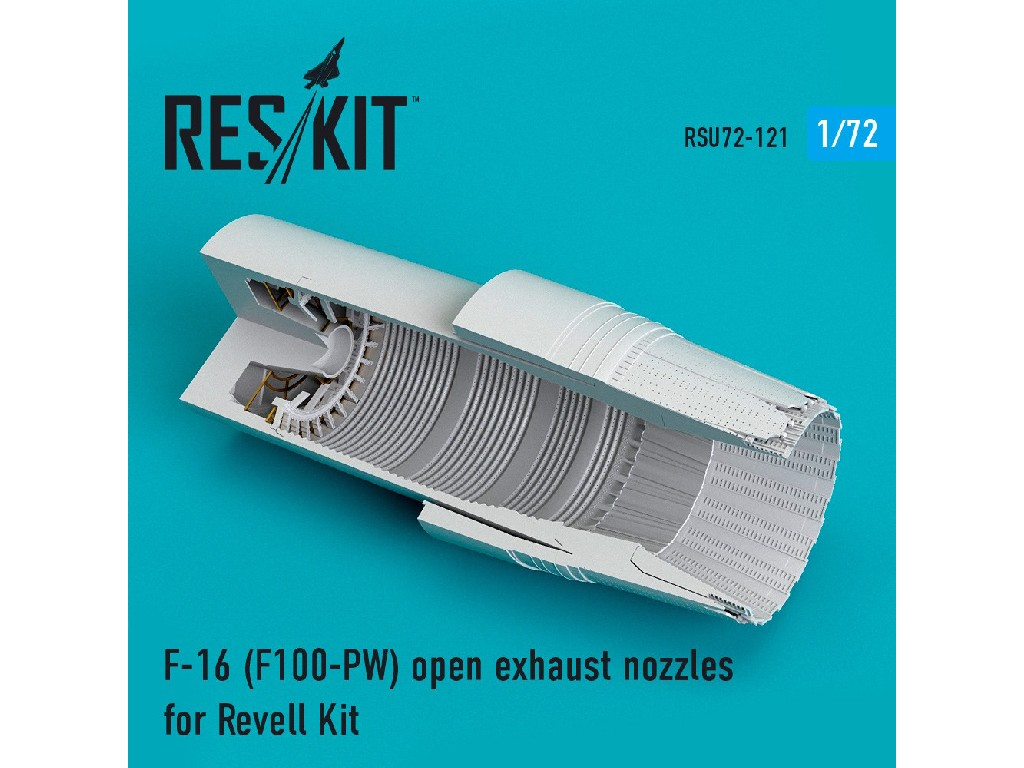 1/72 F-16 (F100-PW) open exhaust nozzles for Revell Kit