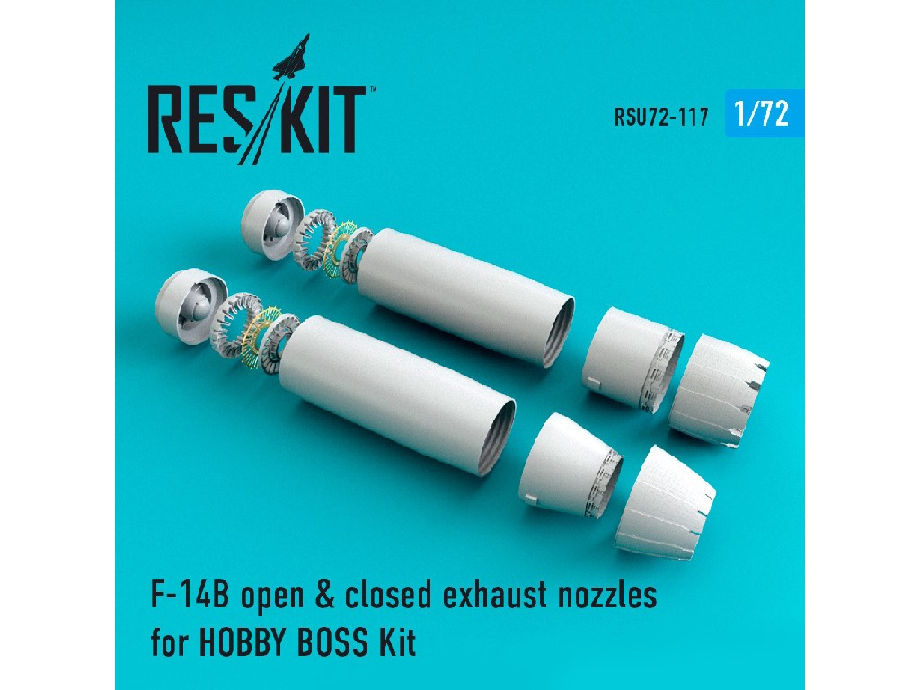 1/72 F-14 (BD) open + closed exhaust nozzles for HOBBY BOSS Kit