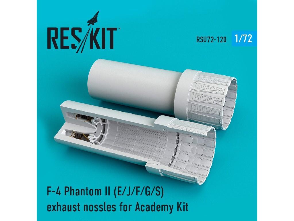 1/72 F-4 Phantom II (E/J/F/G/S) exhaust nossles for Academy Kit