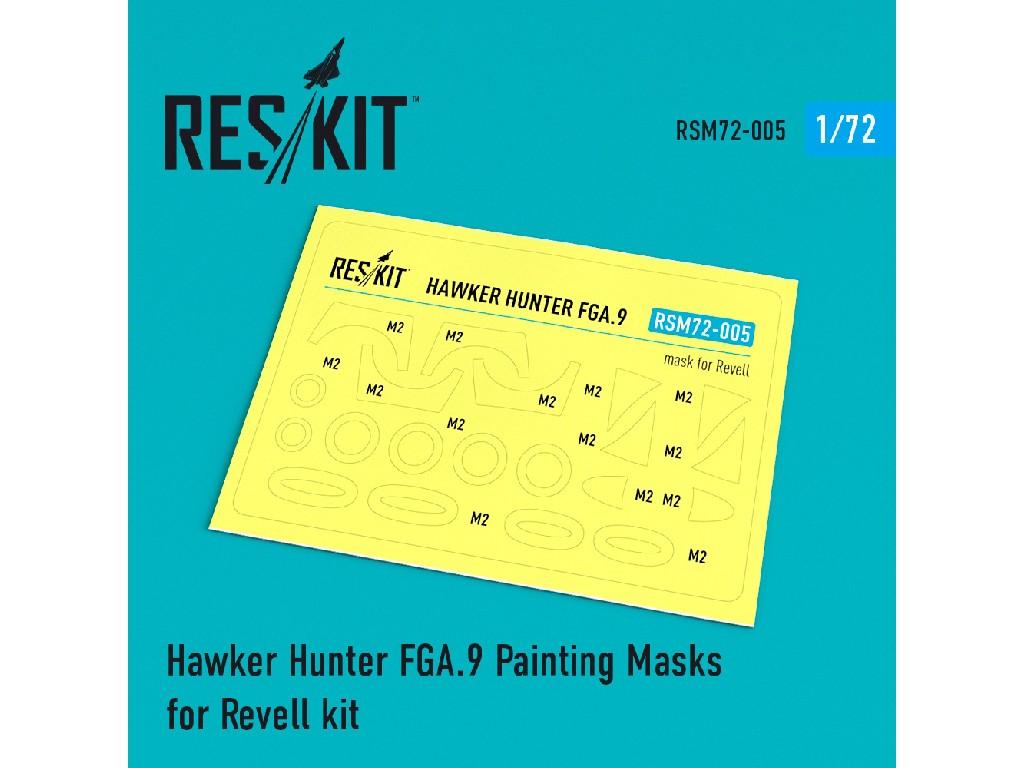 1/72 Hawker Hunter FGA.9 Painting Masks for Revell kit