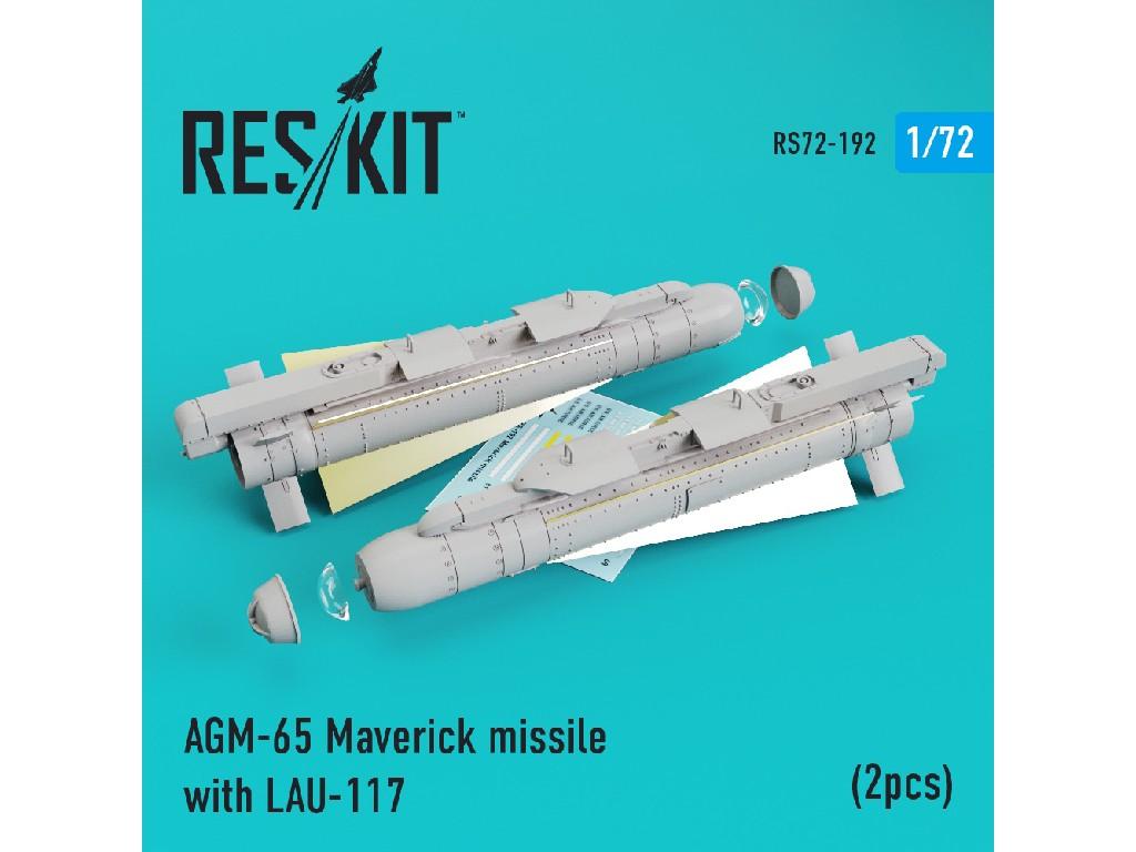 1/72 AGM-65 Maverick missile with LAU-117  (2pcs) AV-8b, A-10, F-16, F-18)