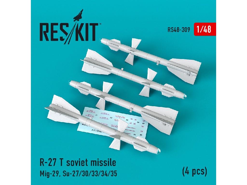 1/48 R-27 T soviet missile (4 pcs) (Mig-29, Su-27/30/33/34/35)