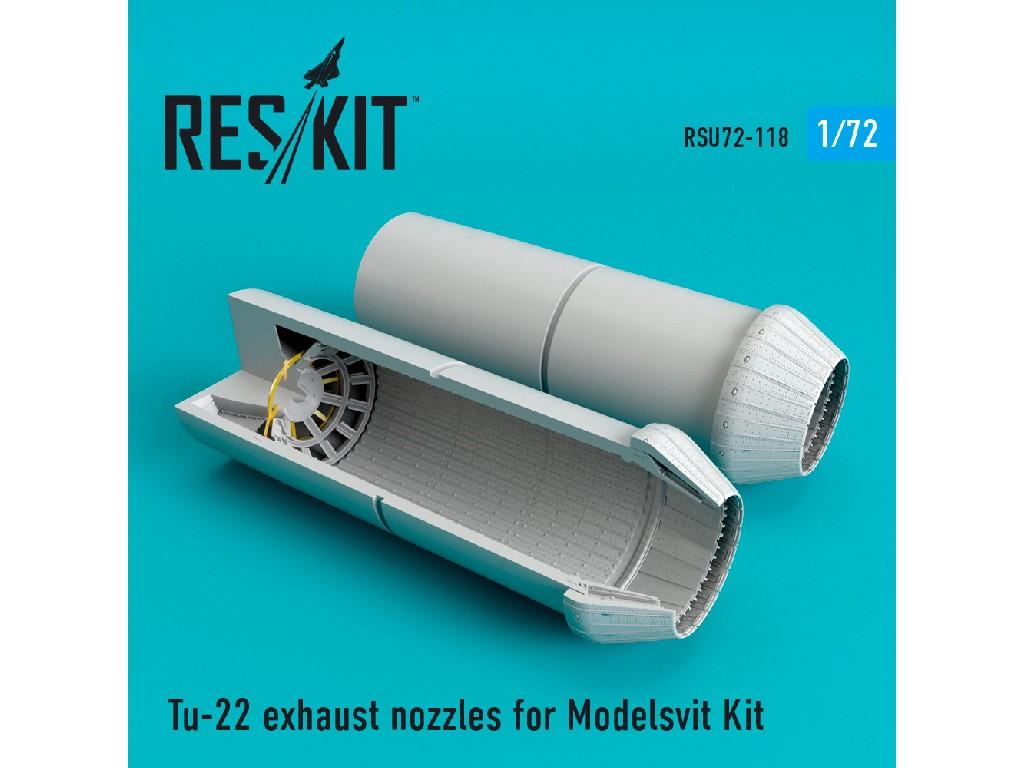 1/72 Tu-22 exhaust nozzles for Modelsvit Kit
