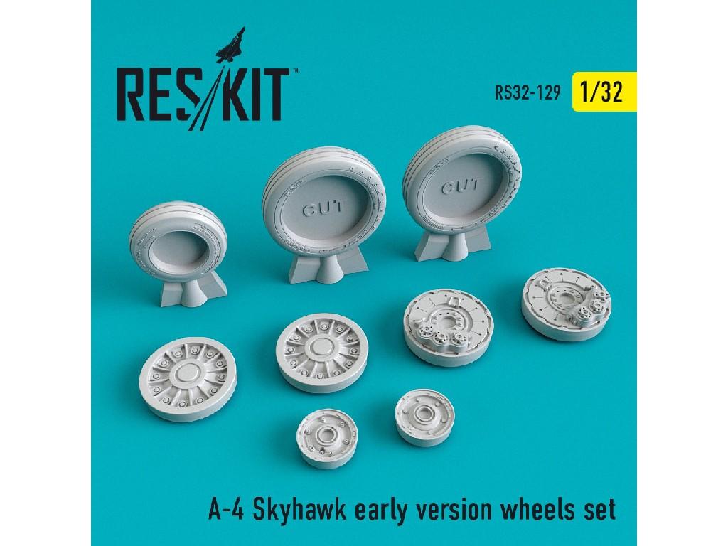 1/32 A-4 Skyhawk early version wheels set