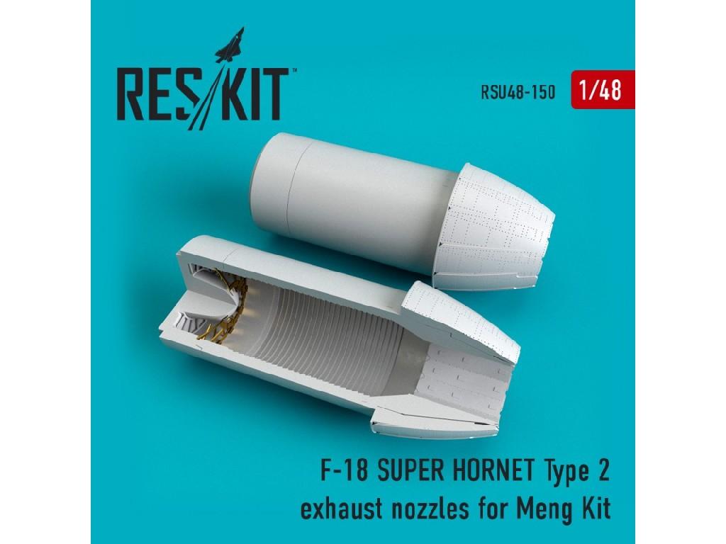1/48 F-18 SUPER HORNET Type 2  exhaust nozzles for MENG Kit