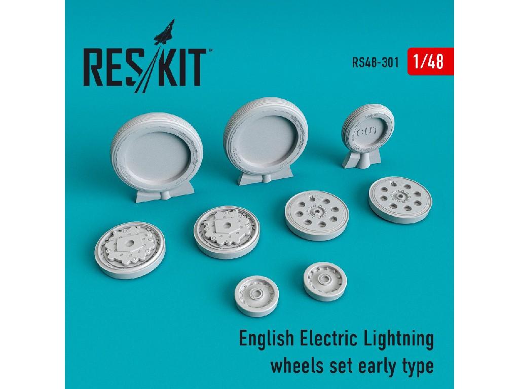 1/48 English Electric Lightning Wheels set early type