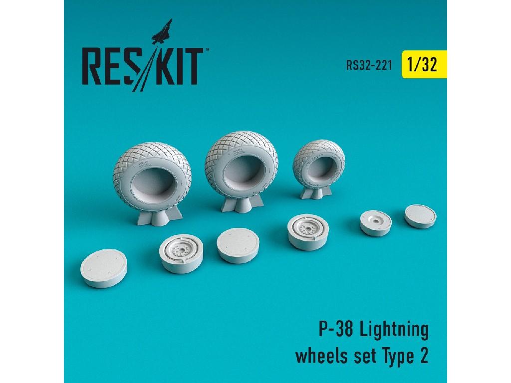 1/32 P-38 Lightning wheels set Type 2