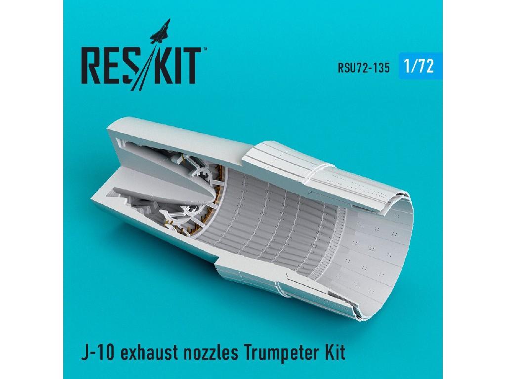 1/72 J-10 exhaust nozzles Trumpeter Kit