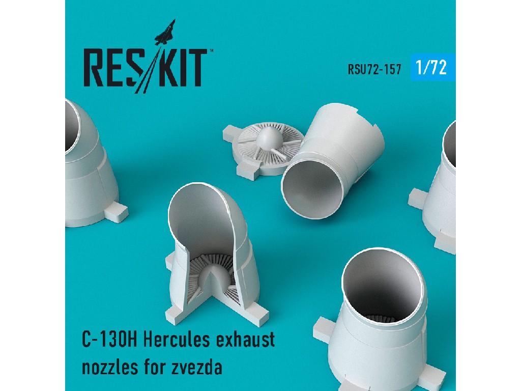 1/72 C-130H Hercules exhaust nozzles for Zvezda Kit