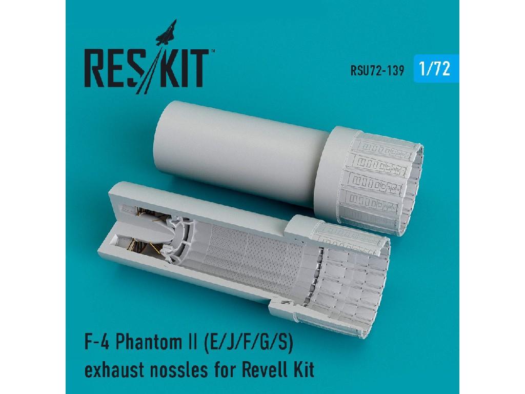 1/72 F-4 Phantom II (E/J/F/G/S) exhaust nossles for Revell Kit