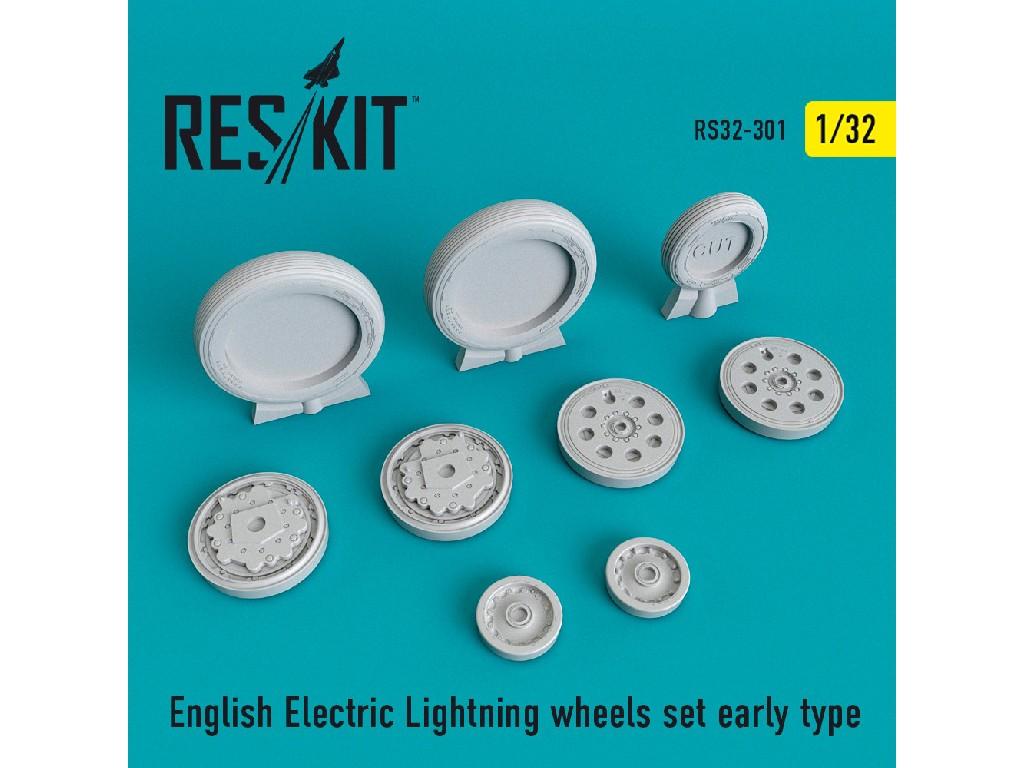 1/32 English Electric Lightning Wheels set early type