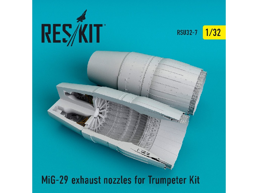 1/32 MiG-29 exhaust nozzles for Trumpeter Kit