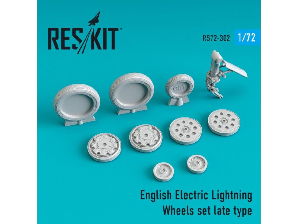 1/72 EE Lightning Wheels set late type