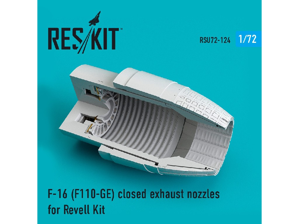 1/72 F-16 (F110-GE) closed exhaust nozzles for Revell Kit