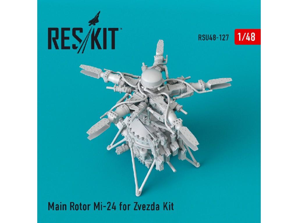 1/48 Main Rotor Mi-24 for Zvezda Kit