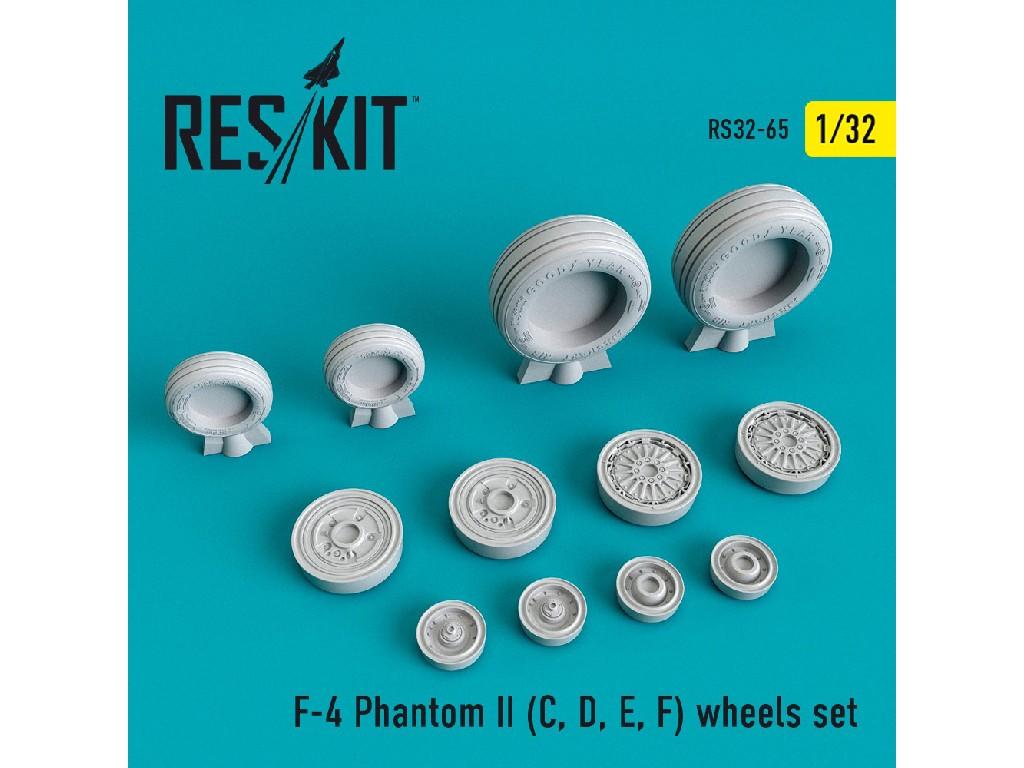 1/32 F-4 Phantom II (C, D, E, F) wheels set