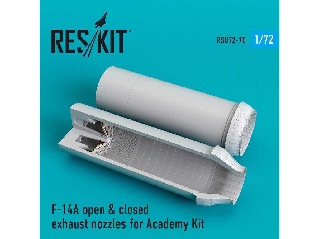 1/72 F-14A open + closed exhaust nozzles for Academy Kit