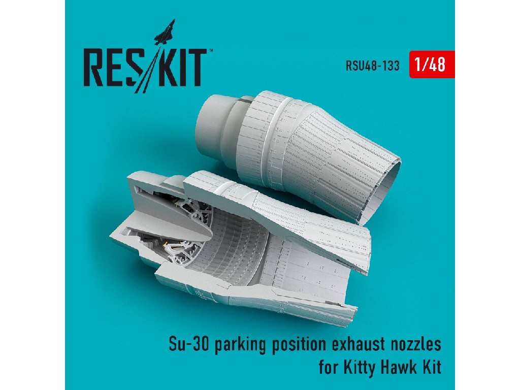 1/48 Su-30 parking position exhaust nozzles for Kitty Hawk Kit