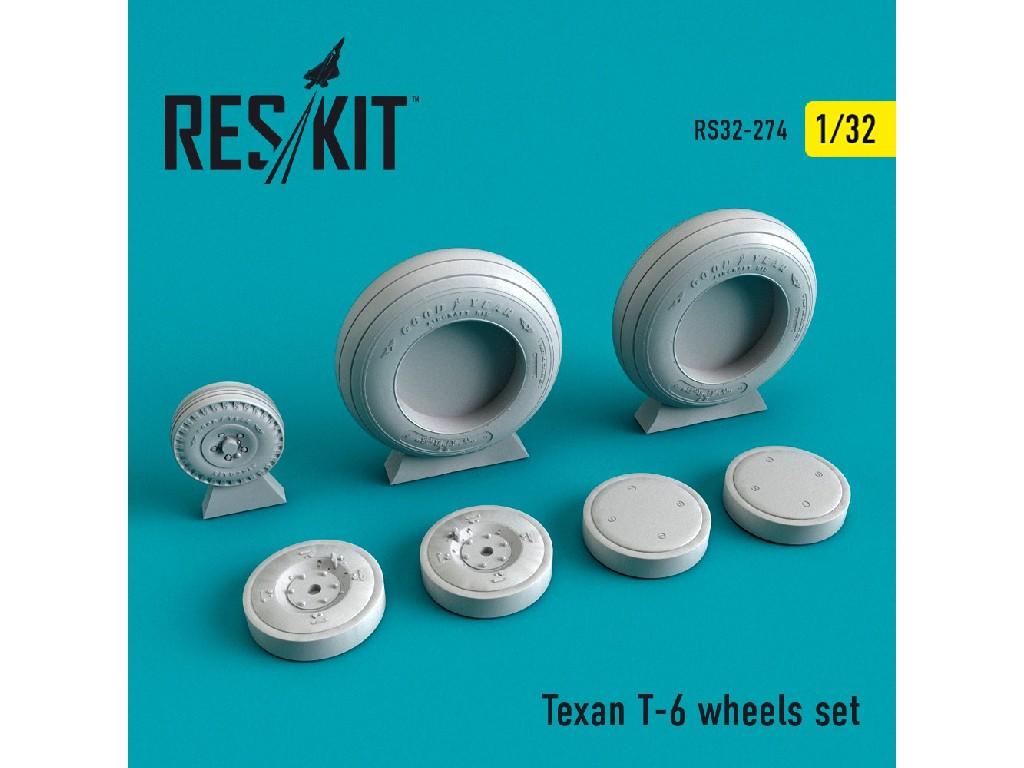 1/32 Texan T-6 wheels set