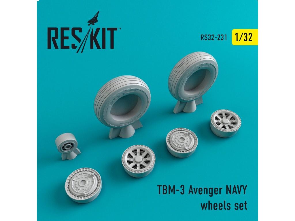 1/32 TBM-3 Avenger NAVY wheels set