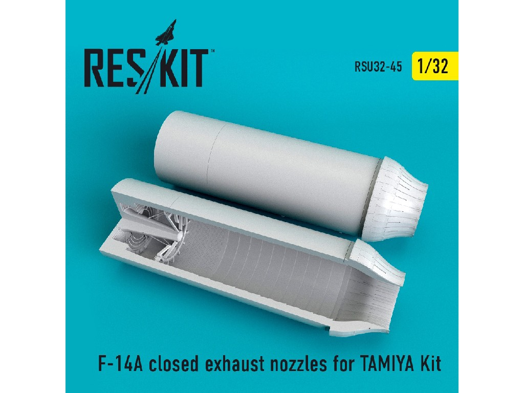 1/32 F-14A closed exhaust nozzles for TAMIYA Kit
