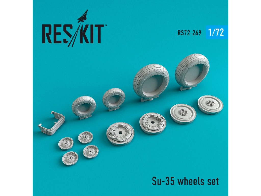 1/72 Su-35 wheels set