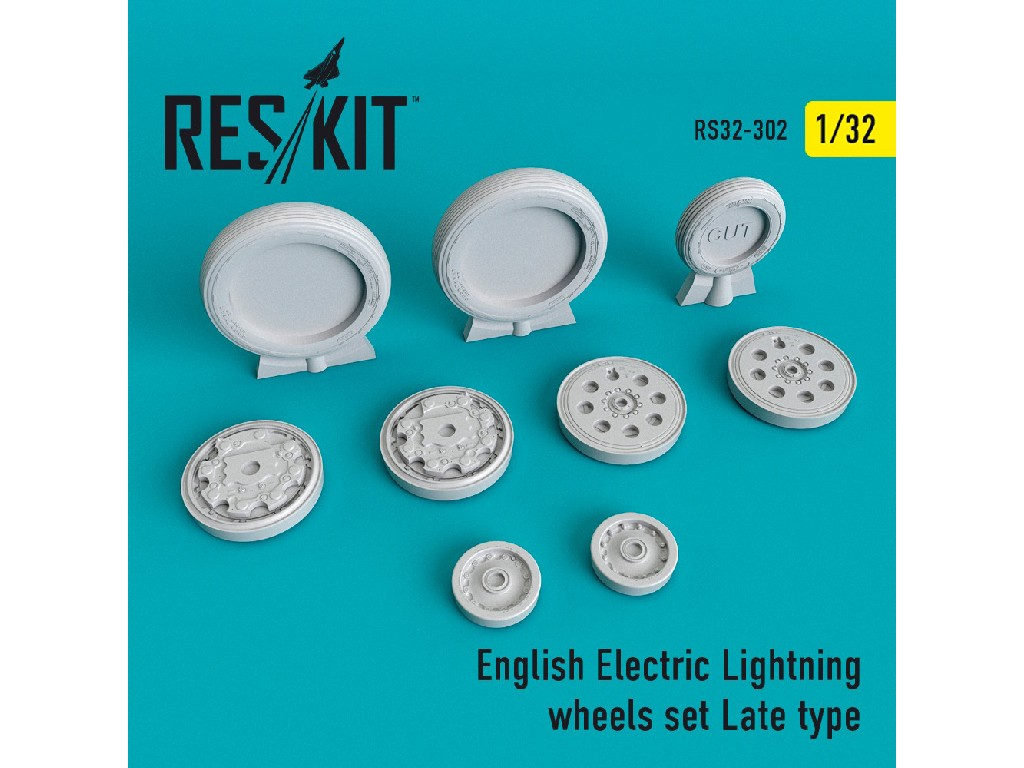1/32 English Electric Lightning Wheels set Late type