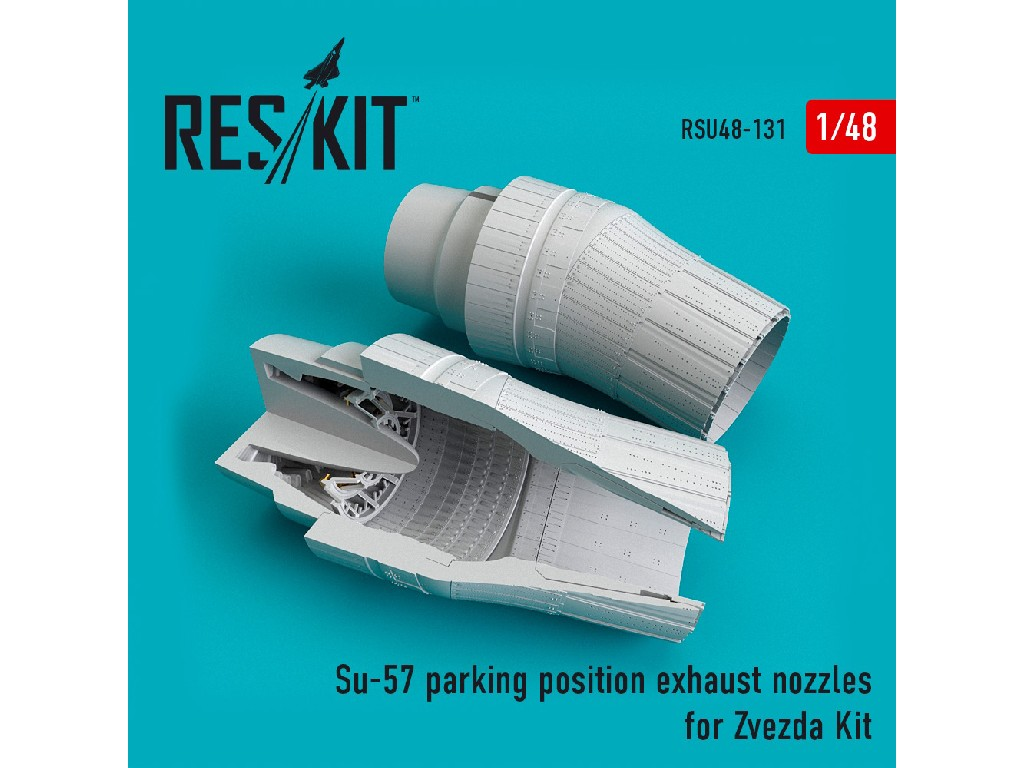 1/48 Su-57 parking position exhaust nozzles for Zvezda Kit