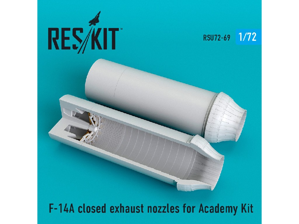 1/72 F-14A closed exhaust nozzles for Academy Kit