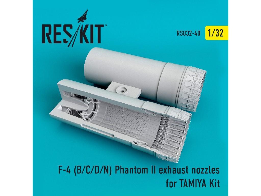 1/32 F-4 (B/C/D/N) Phantom exhaust nozzles for TAMIYA Kit