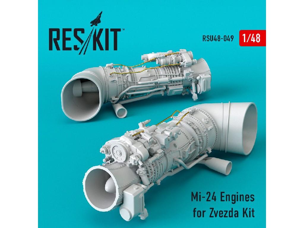 1/48 Mi-24 Engines for Zvezda Kit