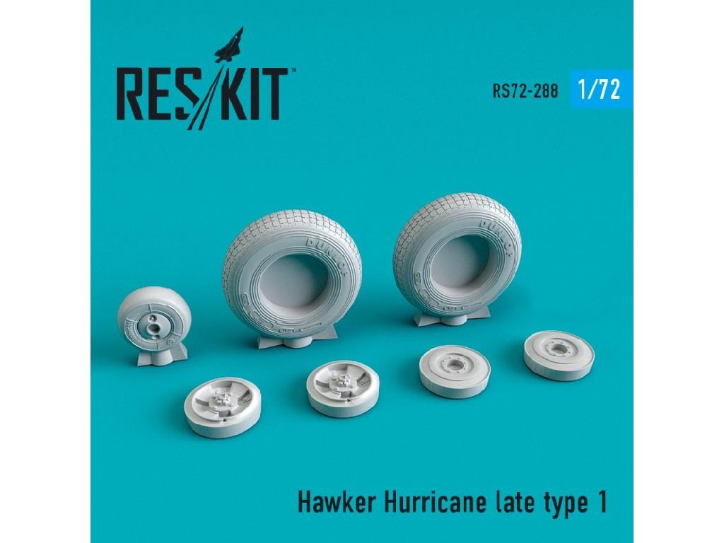 1/72 Hawker Hurricane wheels set late type 1