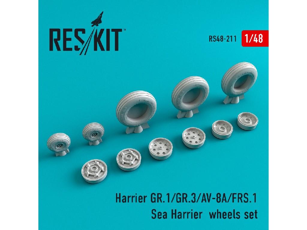 1/48 Harrier GR.1/GR.3/AV-8A/FRS.1/Sea Harrier  wheels set